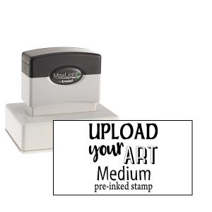 upload your art pre-inked stamp