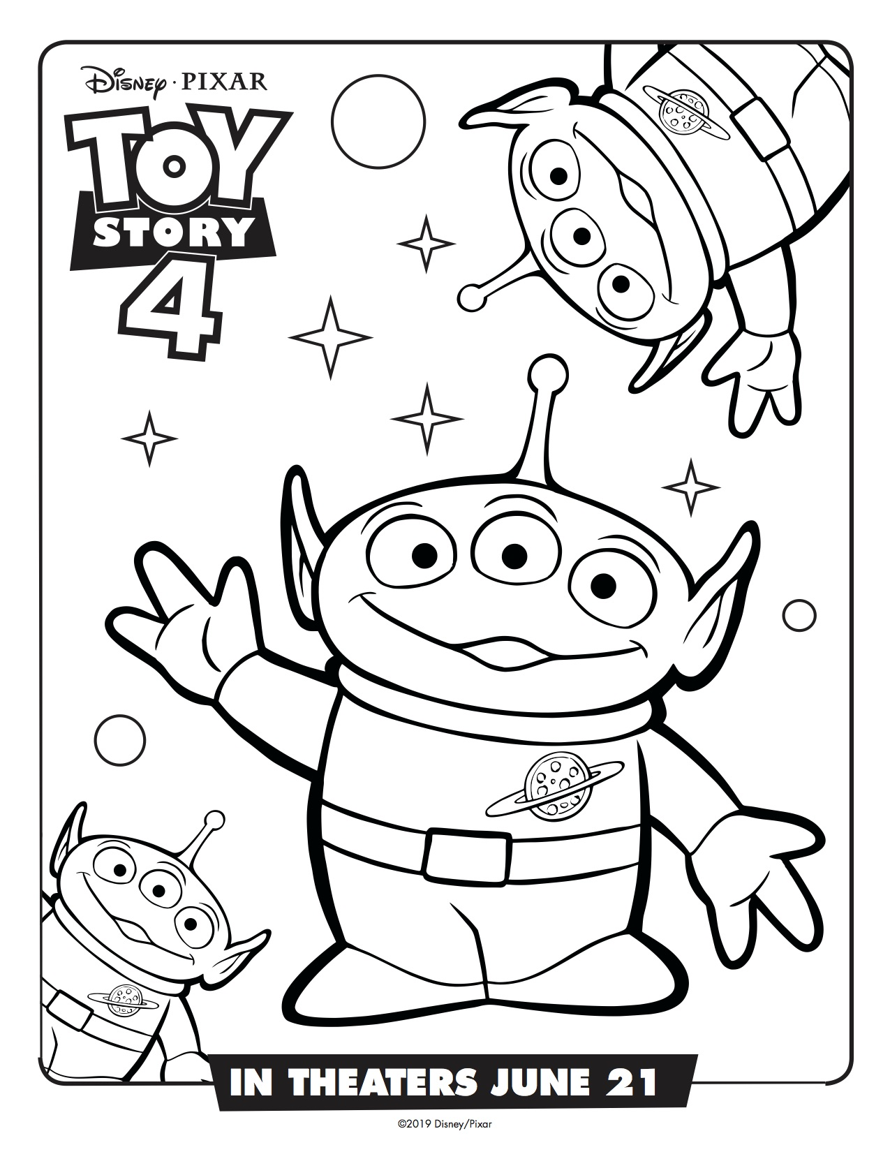Toy Story 4 Aliens Printable Coloring Page Simply Sweet Days