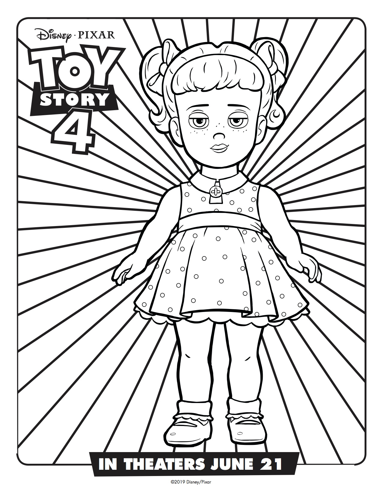Toy Story 4 Gabby Gabby Printable Coloring Page Simply