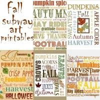 Printable Fall Subway Art