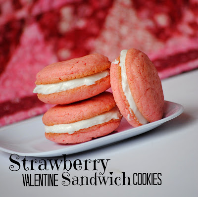Strawberry Sandwich Cookies