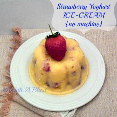Strawberry Yoghurt Ice-Cream {no machine}