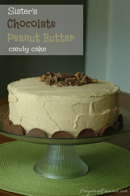 Chocolate Peanut Butter Candy Cake