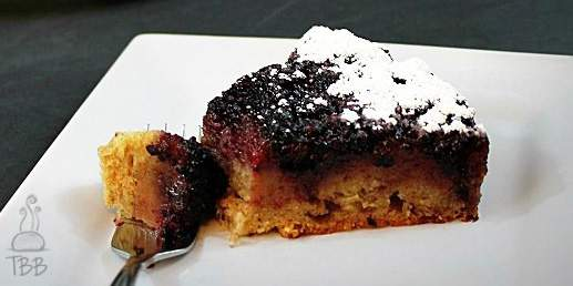 Spiced Blackberry Upside Down Cake