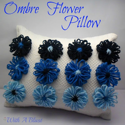 Ombre Flower Pillow