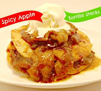Spicy Apple Tortilla Stack
