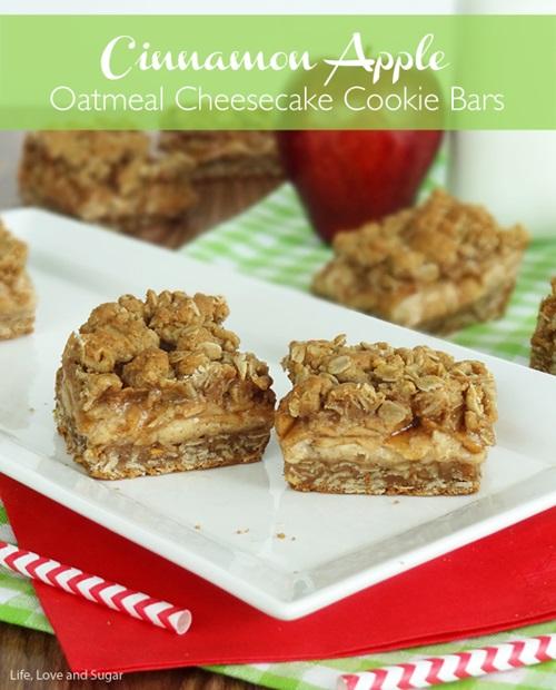 Cinnamon Apple Cheesecake Bars