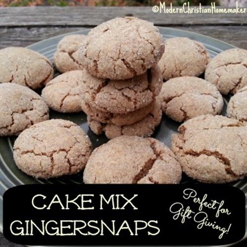 Cake Mix Gingersnaps