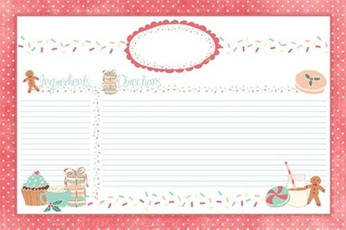photograph regarding Printable Christmas Recipe Cards identified as Totally free Printable Getaway Tags, Recipe Playing cards additional! - Merely