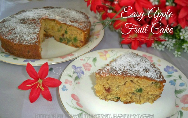 Easy Apple Fruit Cake 2