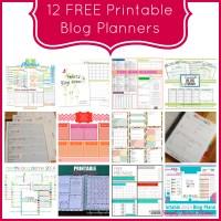 12 FREE Printable Blog Planners