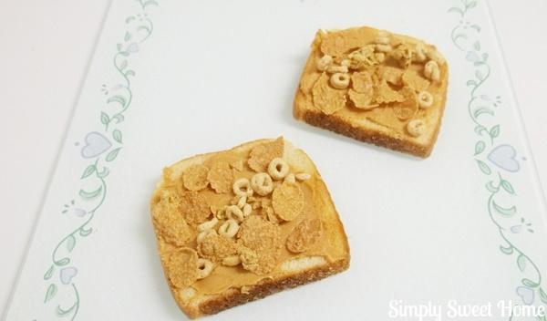 Peanut Butter Cereal Toast