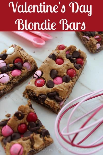 Valentine Blondie Bars