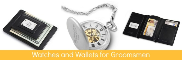 Watches and Wallets for Groomsmen
