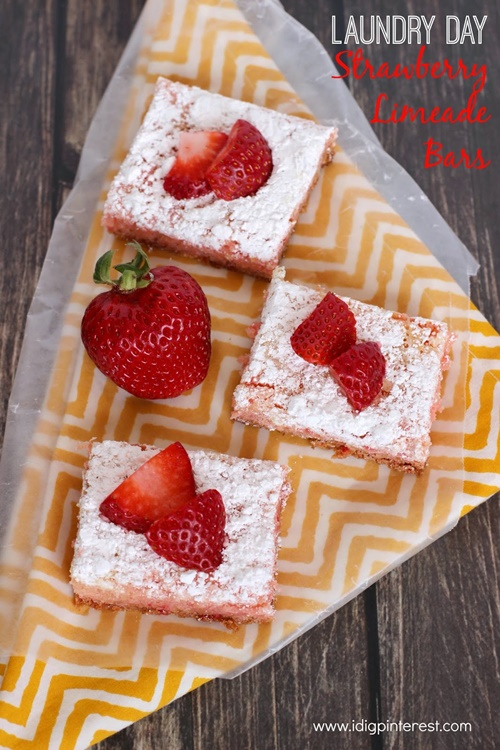 Strawberry Limeade Bars