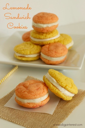 Lemonade Sandwich Cookies