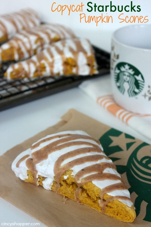 Copy Cat Starbucks Pumpkin Scones