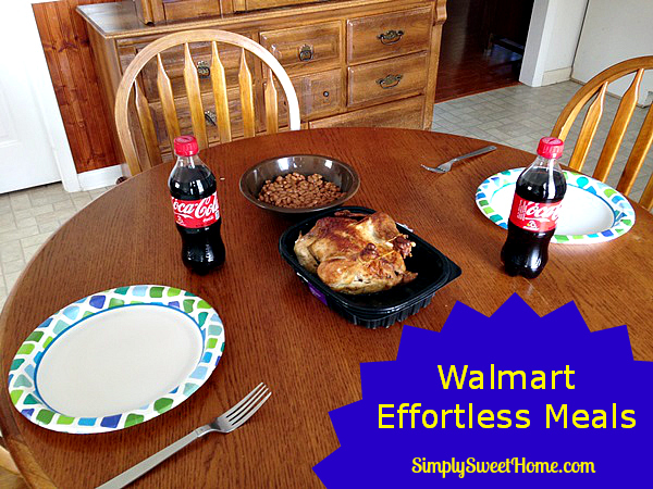 Walmart Effortless Meals on Table