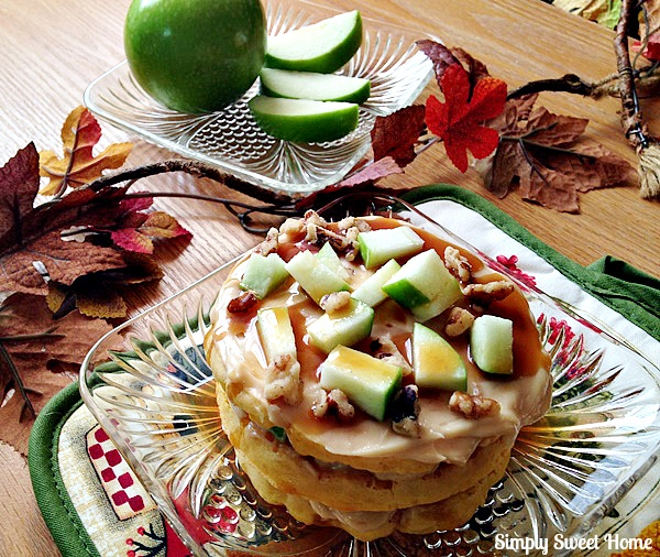 Caramel Apple Waffles Recipe