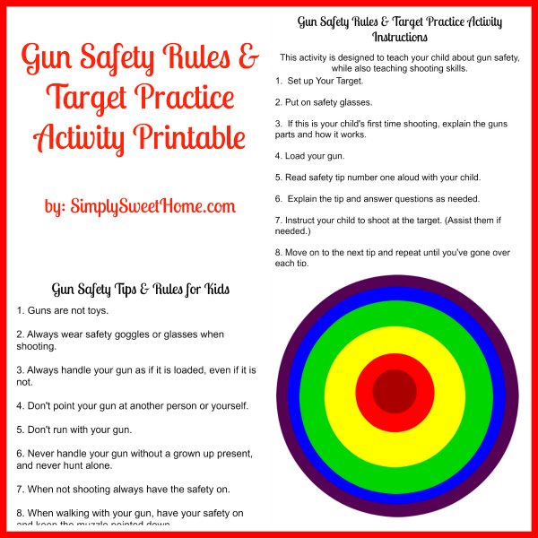 photo regarding Printable Gun Safety Rules titled Gun Security Guidelines and Aim Prepare Preview - Easily Lovable Dwelling