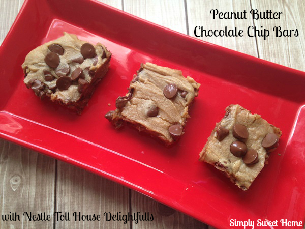 Peanut Butter Chocolate Chip Bars with Nestle Delightfulls