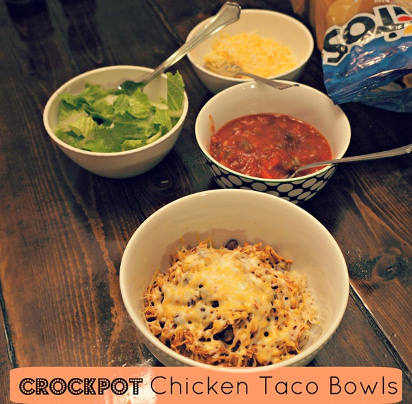 Crock Pot Chicken Taco Bowls