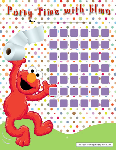 Elmo Potty Training Chart