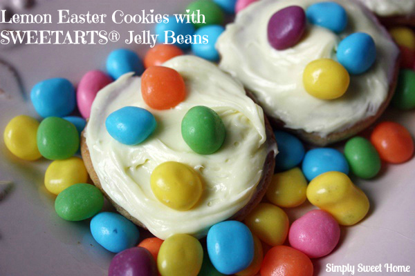 Lemon Easter Cookies Topped with SWEETARTS® Jelly Beans