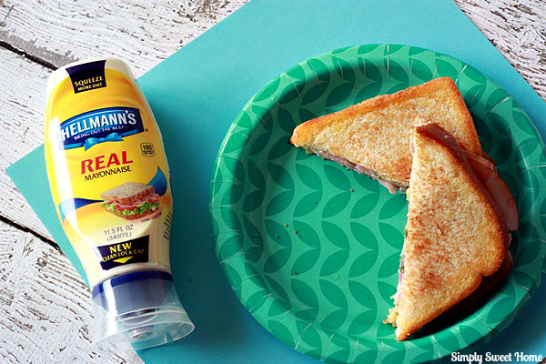 Grilled Ham and Cheese Sandwich with Hellmans