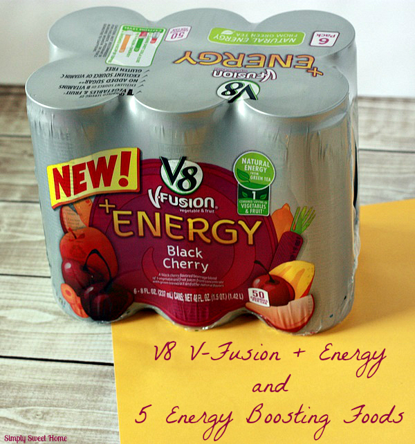V8 V-Fusion Energy and 5 Energy Boosting Foods