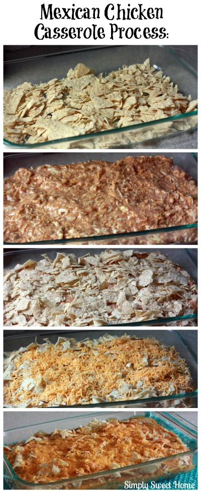 Mexican Chicken Casserole Process