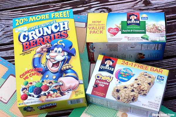 Quaker Breakfast Items