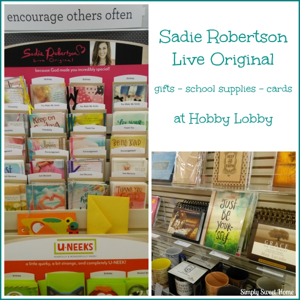 Sadie Robertson Products at Hobby Lobby