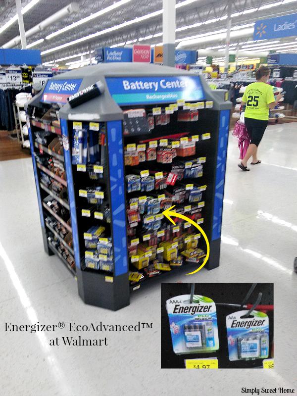 Energizer EcoAdvanced at Walmart