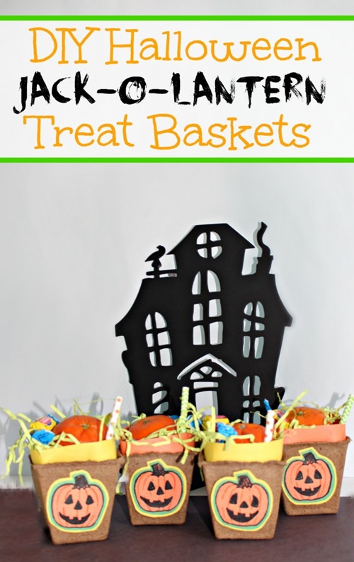 Jack-o-Lantern Trick Or Treat Baskets