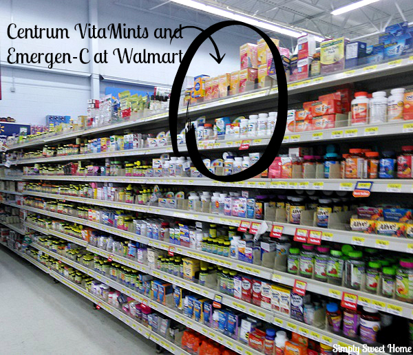 Centrum VitaMints and Emergen-C at Walmart