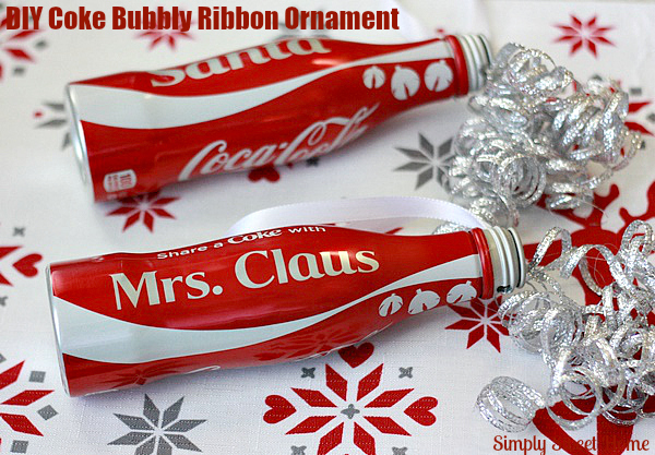 Coke Ribbon Ornament
