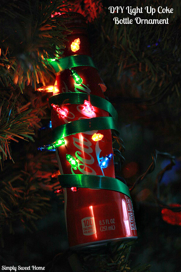 DIY Light Up Coke Bottle Ornament
