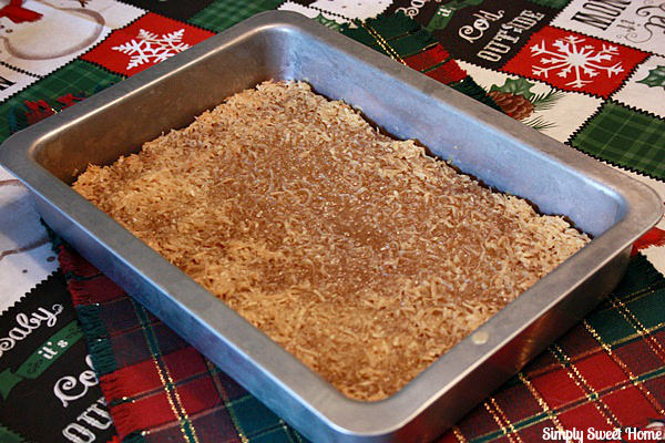 Old Fashioned Oatmeal Cake with Broiled Coconut Topping