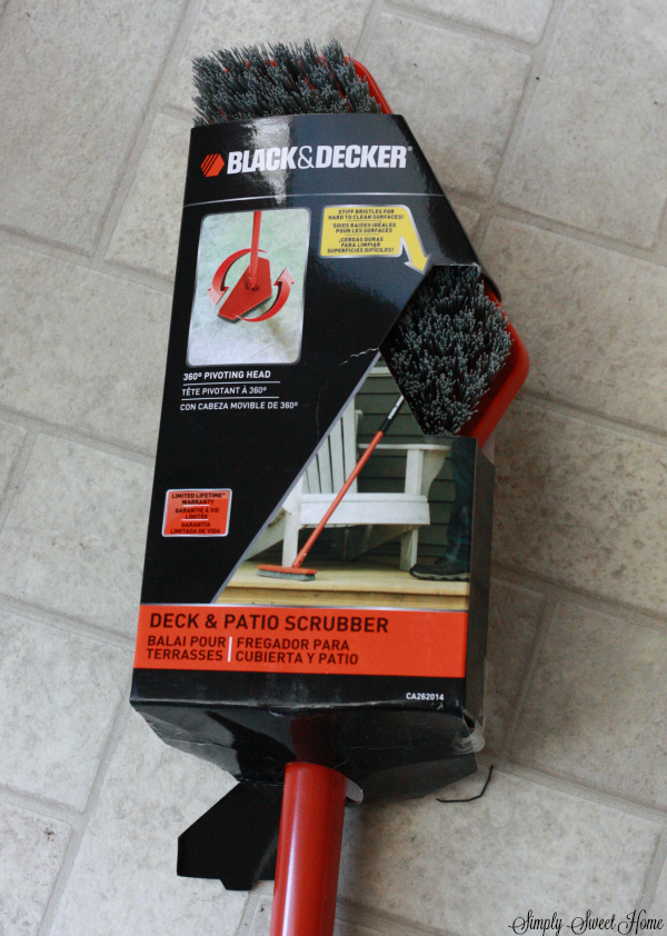 Deck and Patio Scrubber