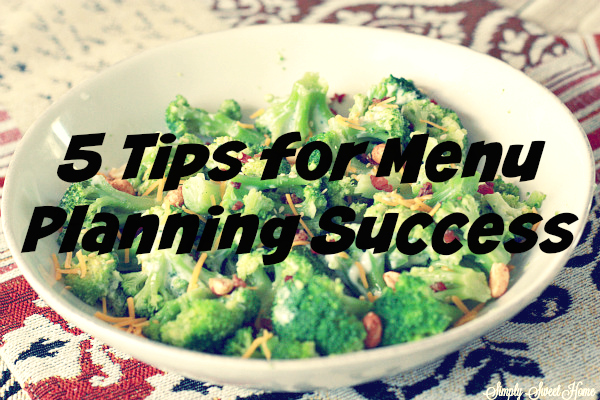 5 Tips Menu for Planning Success