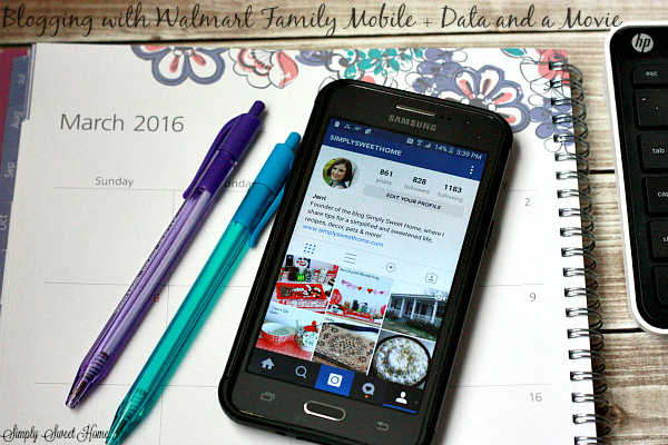 Blogging with Walmart Family Mobile