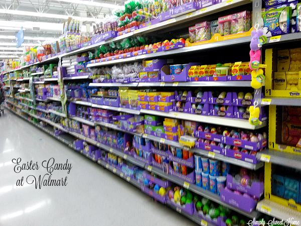 Easter Candy at Walmart