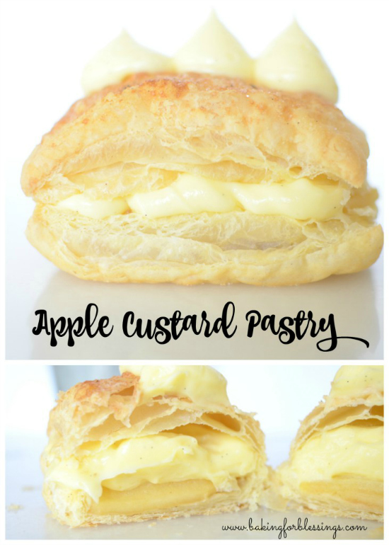 Apple Custard Pastry