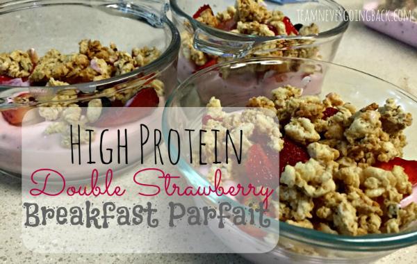 Double Strawberry Breakfast Parfait