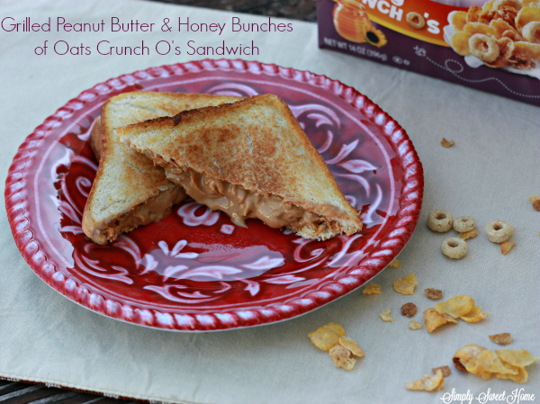 Grilled Peanut Butter & Honey Bunches of Oats Crunch O's Sandwich