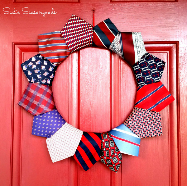 4th of July Tie Wreath