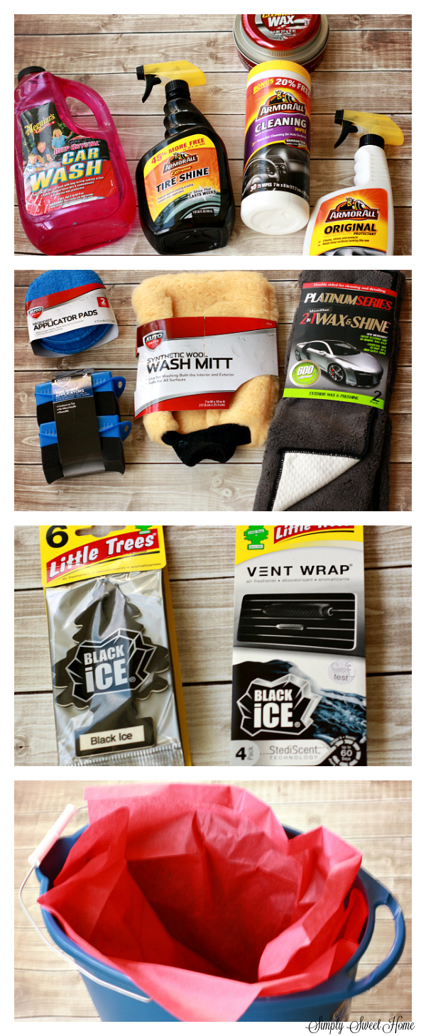 New Driver Gift Basket Materials