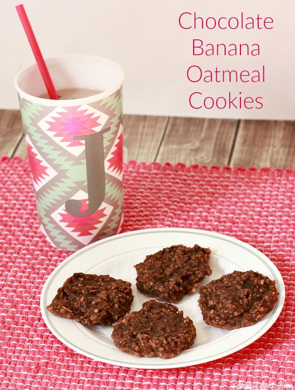 chocolate-banana-oatmeal-cookies
