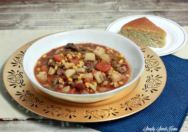 Beef Stew and Corn Bread